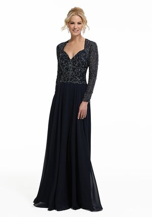 MGNY 72034 Blue,Gray Mother Of The Bride Dress