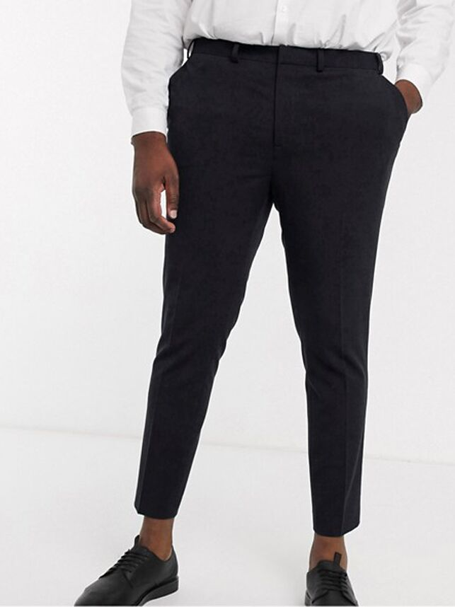 Skinny cropped plus size black pants