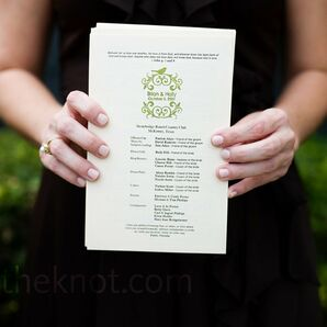 Ivory Wedding Programs