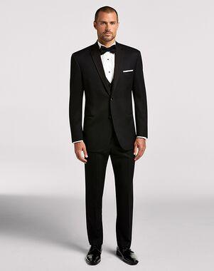 Men's Wearhouse BLACK By Vera Wang Black Notch Lapel Tux Black Tuxedo
