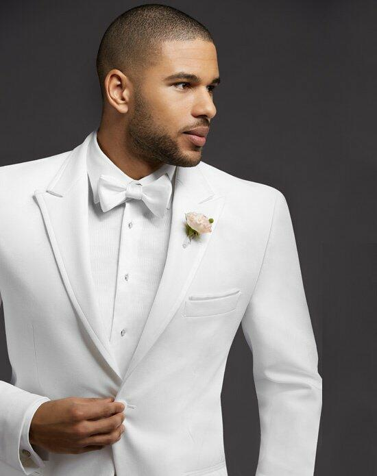 The Men's Wearhouse® Peak Lapel White Tuxedo Wedding Tuxedos + Suit photo