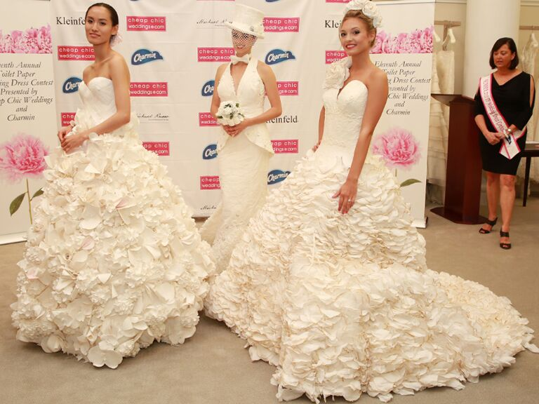 Charmin toilet paper wedding dress contest