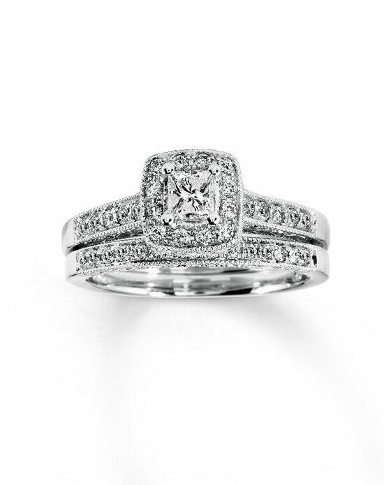 Kay Jewelers DIAMOND BRIDAL SET 1 2 CT TW PRINCESS CUT 14K WHITE GOLD Engagement Ring