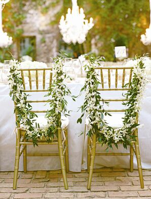 White and Green Garlands