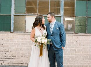 Marissa Schultz (27 and a retail financial planner) and Scott Rader (31 and an environmental permit and compliance specialist) met at a college party,