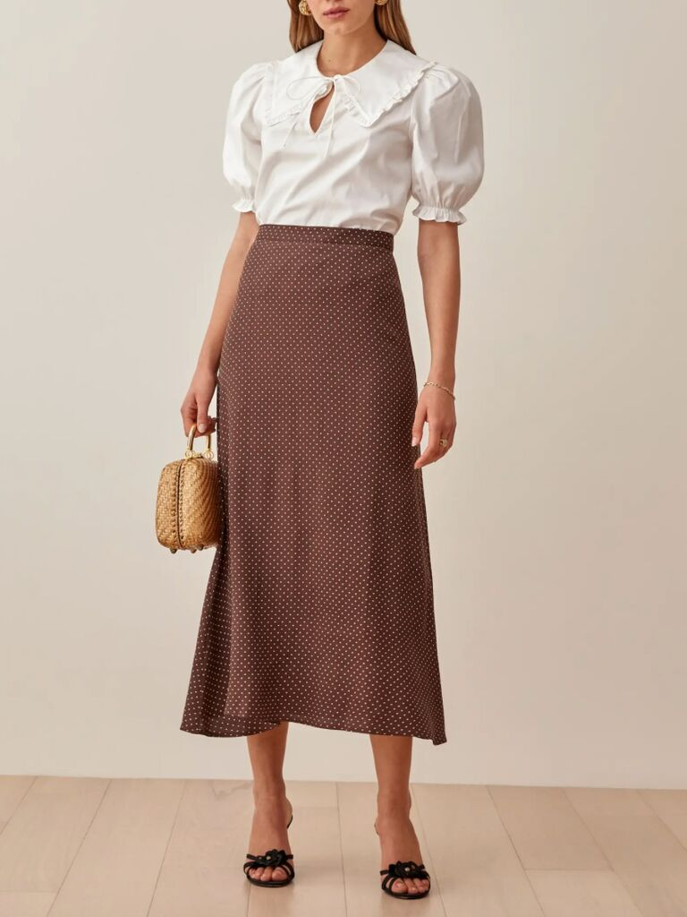 casual wedding attire for women skirt