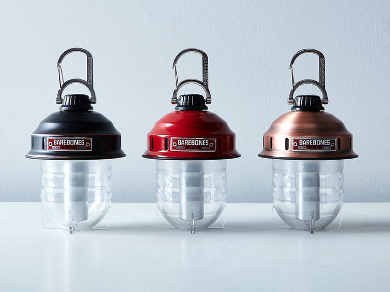 food52 mini lantern in black red or bronze for bachelor party favors