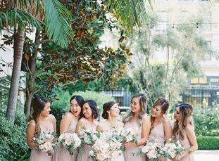 From a venue with epic architecture to an absolutely dreamy color palette, Albert and Beatrice's California wedding was the epitome of romance. While