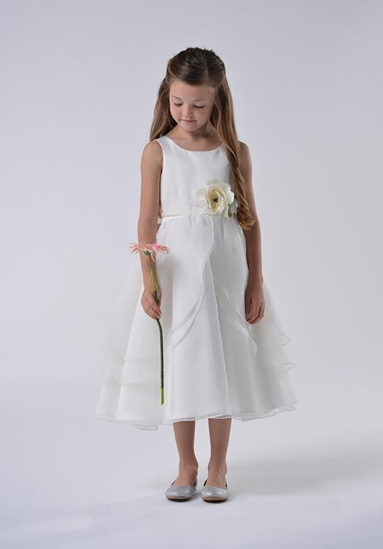Us Angels Beautiful Color The Tulip Dress-104_Ivory Flower Girl Dress photo