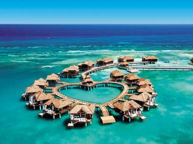 honeymoon during COVID overwater bungalow socially distanced stay