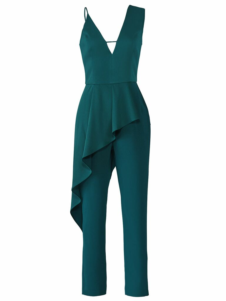 turquoise woven jumpsuit