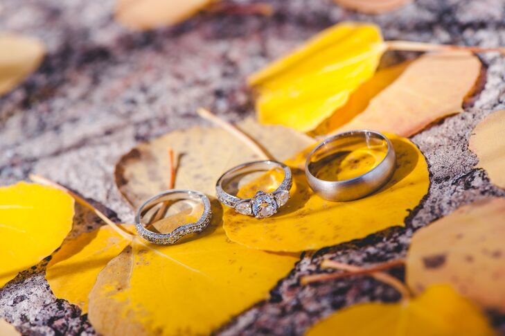"""Charles proposed with a ring he custom designed through Solomon Brothers in Atlanta. """"He purposefully wanted to solidify our commitment in the Lord, so he designed a three-in-one ring representing the Father, the Son, and the Holy Spirit in a three-diamond design with The One (aka God) symbolized in a tiny diamond at the base of the ring under the three stones above. During his proposal, he explained the significance and melted my heart!"""""""
