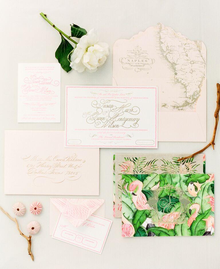 Ceci New York tropical wedding stationery