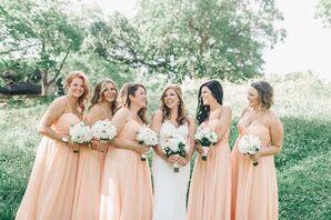 Watters Apricot Bridesmaid Dresses