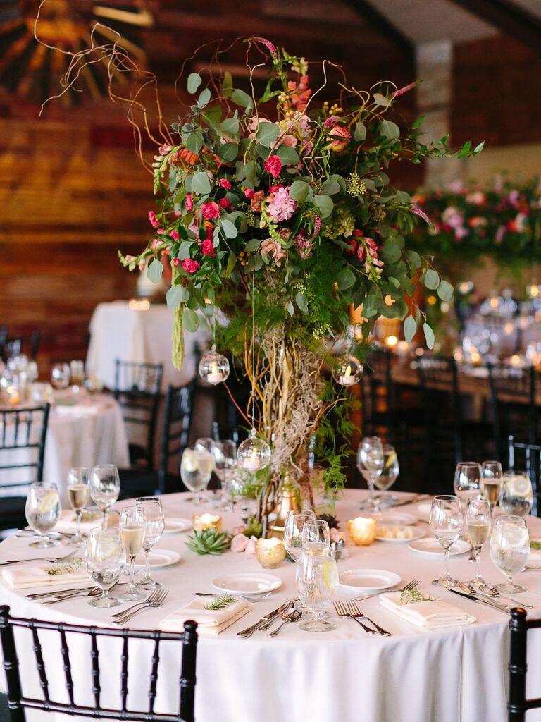 Wedding Centerpieces Tall Boho