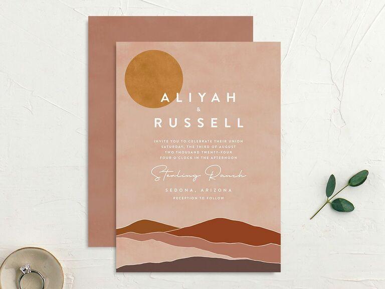 fall wedding invitation outdoors