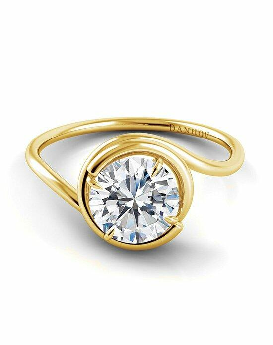 Danhov Abbraccio 18k Yellow Gold Swirl Engagement Ring photo