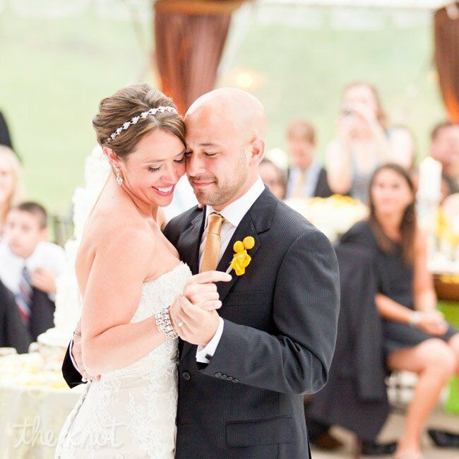 The couple danced to Livin' Our Love Song by Jason Michael Carroll.