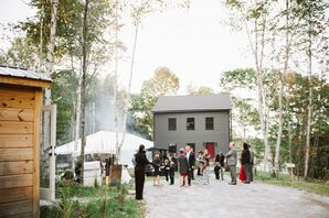 Casual Backyard Tented Reception in Maine
