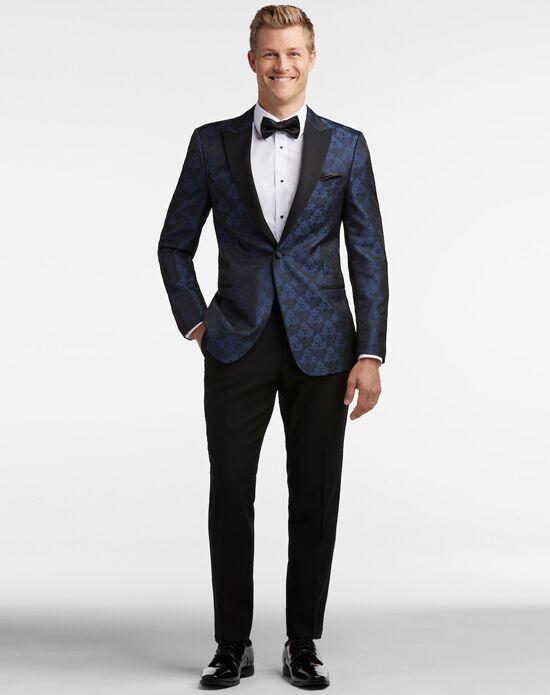 Men's Wearhouse Egara Blue Jacquard Dinner Jacket Tux Tuxedo