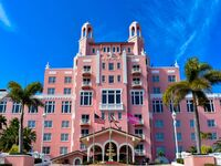 Front view of The Don Cesar Hotel in St. Petersburg
