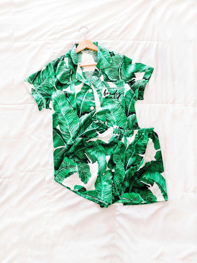 tropical bridesmaid pajamas