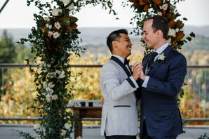 Newlyweds at Rustic Fall Wedding in Ontario, Canada