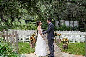 Strapless Cotton Wedding Dress