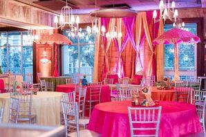 Vibrant Pink-and-Orange Decor for Pre-Wedding Mehndi Part