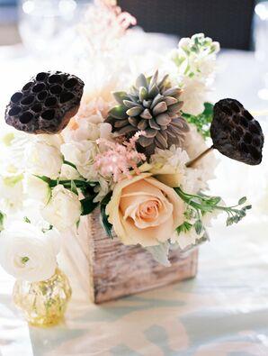 Romantic and Rustic Pastel Centerpiece