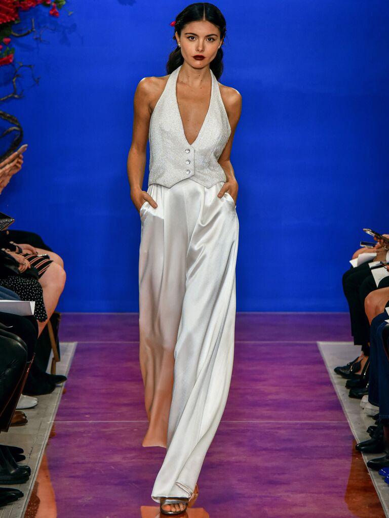 theia wedding dress jumpsuit