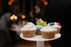 Wes Anderson-Inspired Wedding Cupcakes