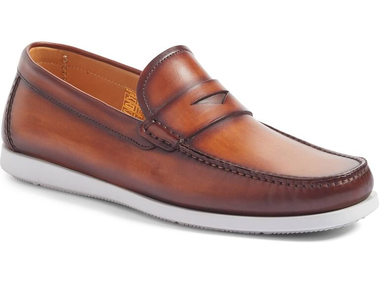 Casual slip on beach wedding shoes for groom