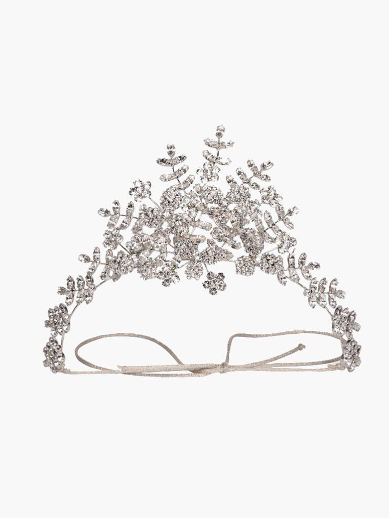 wedding hair pieces silver tiara