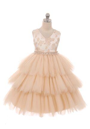Kid's Dream 412 Pink,Ivory Flower Girl Dress