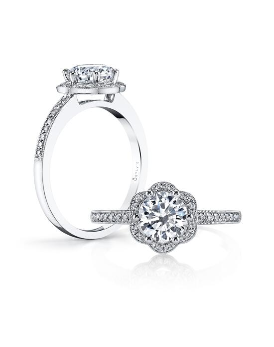 """Yes!"" Platinum Jewelry  Sylvie-S1085 Engagement Ring photo"
