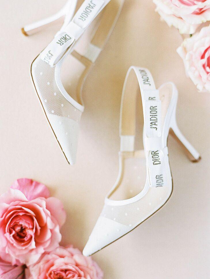 White High Heels for Cabo San Lucas, Mexico, Wedding