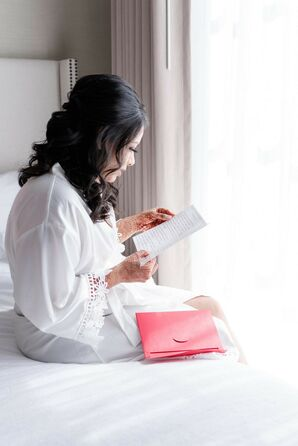 Bride Getting Ready for Wedding at Harborside East in Charleston, South Carolina