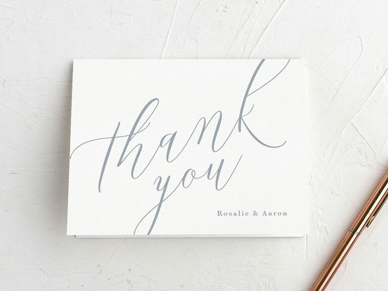 The Knot Invitations wedding thank-you card