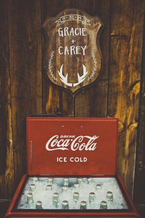 Vintage Coca-Cola Cooler for Champagne