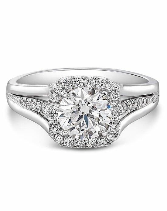 "Forevermark Diamond Engagement Rings CENTER OF MY UNIVERSE™ ""MID MELEE"" HALO RING/FMC1058 Engagement Ring photo"