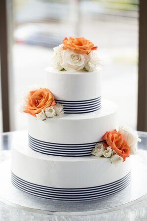 Ivory Wedding Cake With Roses