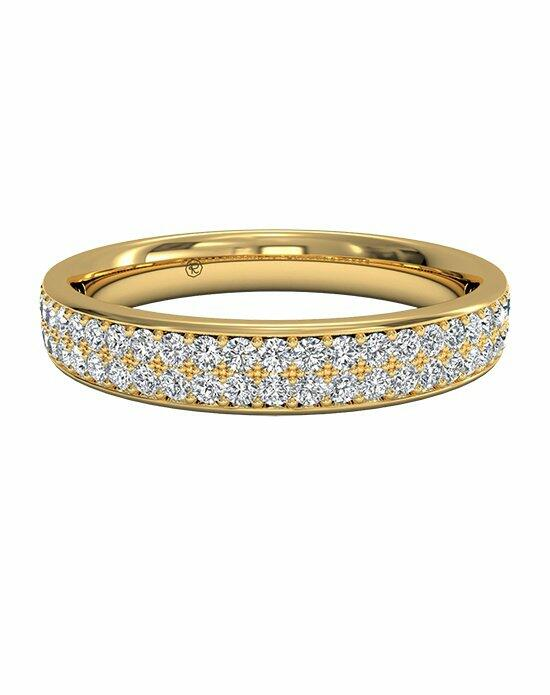 Ritani Women's Double Micropavé Wedding Band in 18kt Yellow Gold (0.25 CTW) Wedding Ring photo