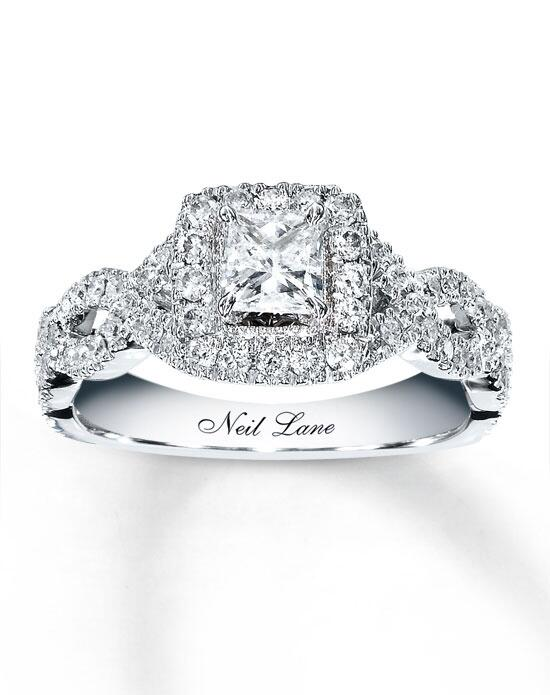 Neil Lane 14kw 1-1/6cttw Princess Bridal Set-940225700 Engagement Ring photo