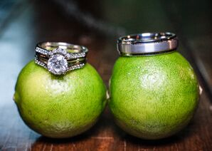 Silver Wedding Rings on Limes