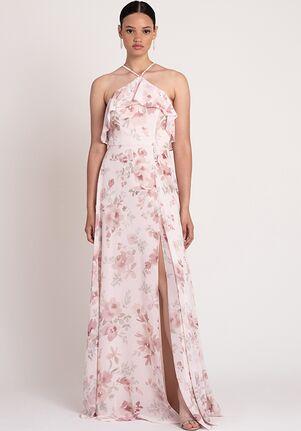 Jenny Yoo Collection (Maids) Jada Print Halter Bridesmaid Dress