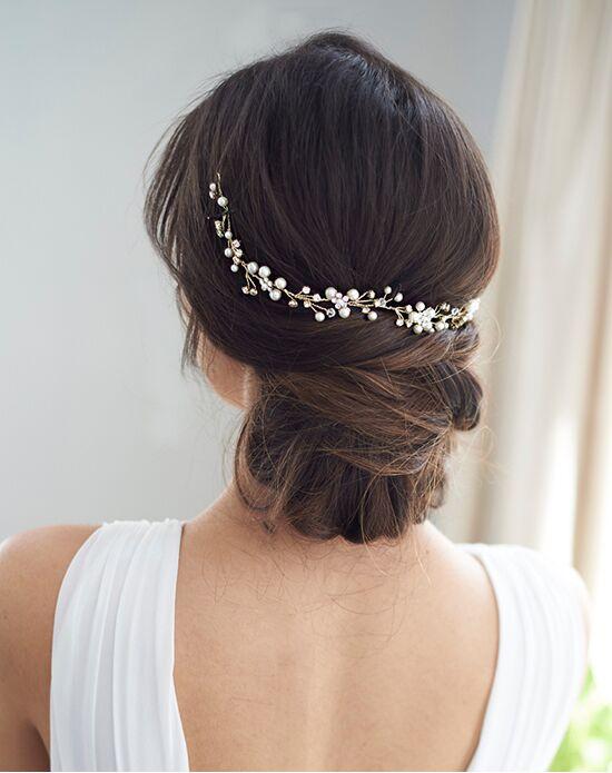 Dareth Colburn Pretty Floral Hair Vine (TI-3339) Gold, Silver Headband