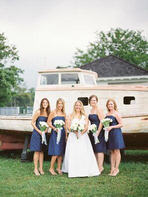 Polished Navy Bridesmaid Dresses