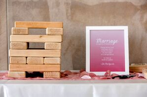 Paper and Wood Reception Decor