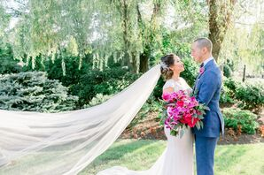 Couple at Wedding at The Rockleigh in Rockleigh, New Jersey
